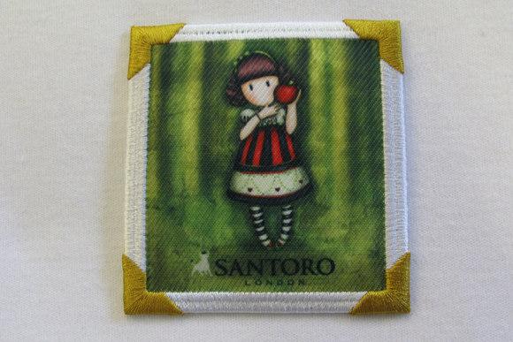 Santoro pigemotiv grøn 7 x 7 cm