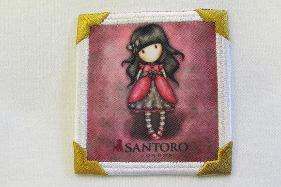 Santoro pigemotiv hindbær 7 x 7 cm