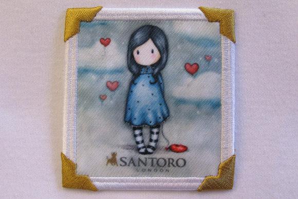 Santoro pigemotiv petrolblå 7 x 7 cm