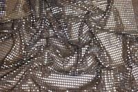 Sølv-sort paillet-stof, i flot let kvalitet