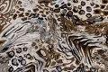 Stræk-twill i hvid og brun og grå til bukser m.m..