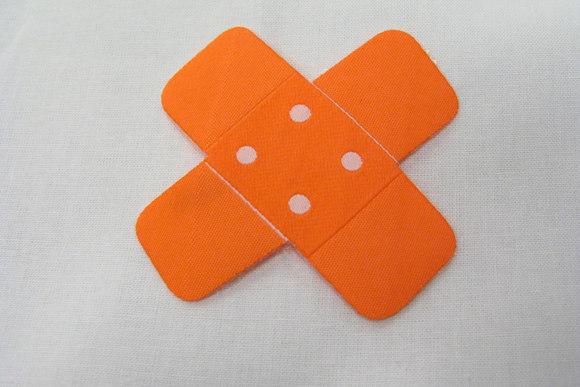 Strygemotiv orange plaster 7x7 cm