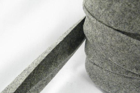 Uldskråbånd grå 2,5cm bred