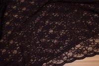 Varm mørkbrun kjoleblonde med dobbel tungekant