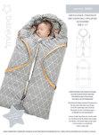 Lækker kørepose der også kan bruges som lift i barnets første måneder. Plads til at montere barnevognssele. Kan både bruges i barnevogn, som dyne og som legetæppe.  Passer til de fleste standard barnevogne. Færdig længde and bredde: 90 cm  and  45 cm Udslået længde and bredde: 180 cm  and  110 cm.