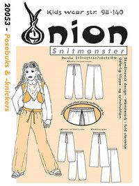 Snitmønster, Posebuks og -knickers. Onion 20053.