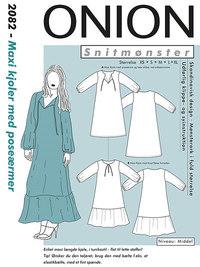 Maxi kjoler med poseærmer. Onion 2082.