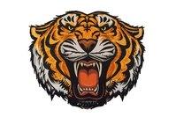Brølende tiger strygemærke ca 15cm