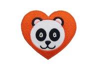 Panda hjerte strygemærke 6cm