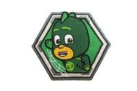 Pjamask strygemærke grøn Ø6cm