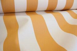 Texgard-imprægneret markisestof, okker og elfenbensfarvet
