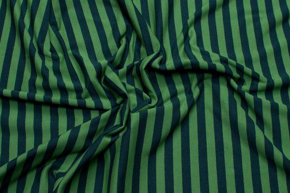 Lysegrøn og grøn bomuldsjersey med 10 mm striber