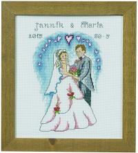 Bryllup vægbroderi