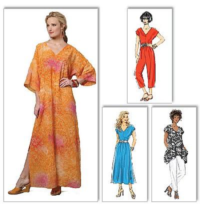 Top, kjole, caftan, jumpsuit og bukser