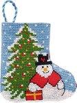 Permin 01-9216. Gran og snemand julestrømpe.