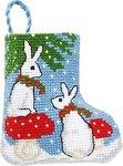Permin 01-9218. Kaniner julestrømpe.