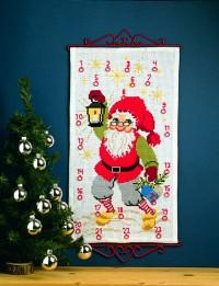 Pakkekalender med Julemanden med lygte. Permin 34-4215.