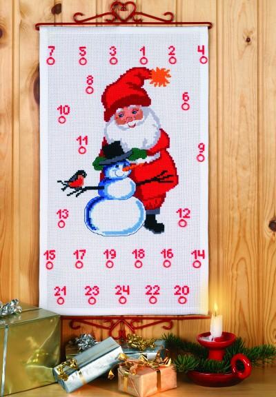 Pakkekalender med Julemanden og snemand
