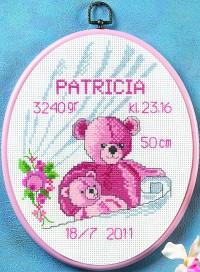 Babyfødsel broderi. Permin 92-0901.