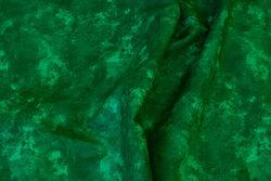 Bomuld med batiktryk i grønne nuancer