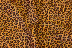 Bomuld med leopard-mønster