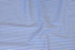 Bomuld med smalle striber i blå og hvid