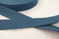 Bomuldsgjordbånd 3 cm mørk dueblå