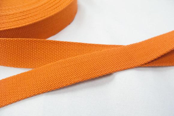Bomuldsgjordbånd 3 cm orange