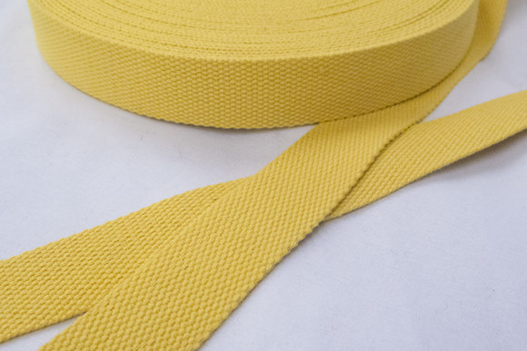 Bomuldsgjordbånd 3 cm skarp gul