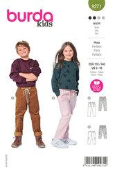 Slip-on bukser med elastik i talje. Burda 9271.