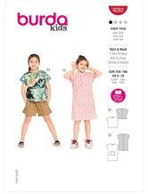 T-shirt og kjole. Burda 9282.