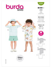 T-shirt og kjole. Burda 9284.