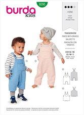Smækbukser til småbørn. Burda 9295.