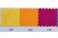 Farvet bomuldslærred i gul, orange, lyng