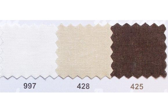 Farvet bomuldslærred i hvid, beige og brun