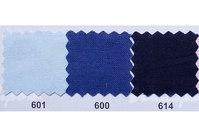 Farvet bomuldslærred i lyseblå, coboltblå, mørkeblå