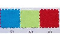 Farvet bomuldslærred i turkis, lysegrøn og rød
