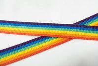 Gjordbånd 2,5cm br. regnbuefarver