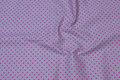 Grå bomuld med 5 mm pink prikker.