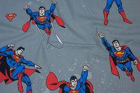 Grå bomuld med Superman