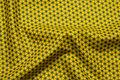 Karrygul patchwork-bomuld med 5 mm mørke stjerner