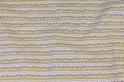 Lys, let bomuld med gult bort-mønster