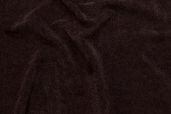 Mørkbrun møbelstof i flot  velourkvalitet.