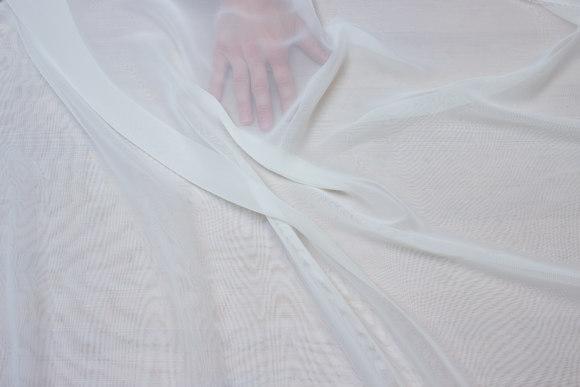 Off-white chiffon, let transparent