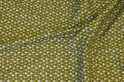 Oliven bomuld med lille hvidt mønster