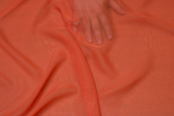 Orange chiffon, let transparent