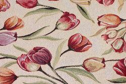 Sandfarvet gobelin med tulipaner