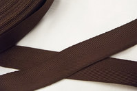 Sildebensvævet bånd brun 2,5cm