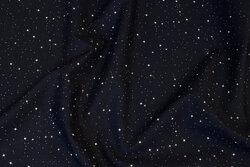 Sort bomuld med diskret stjernehimmel