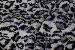 Superblød pelsstof i grå nuancer